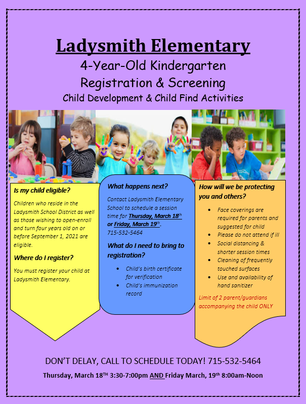 4-Year-Old Kindergarten Registration and Screening