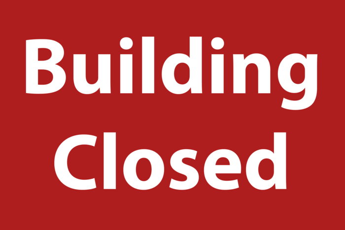 Building Closed Sign