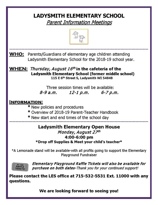 Parent Night and Open House Flyer