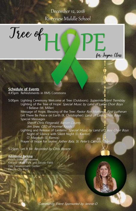 Tree of Hope Lighting Ceremony on Dec 12