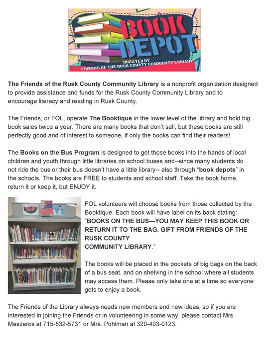 Books on the Bus/Book Depot Flyer
