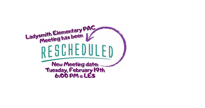 Rescheduled PAC Meeting
