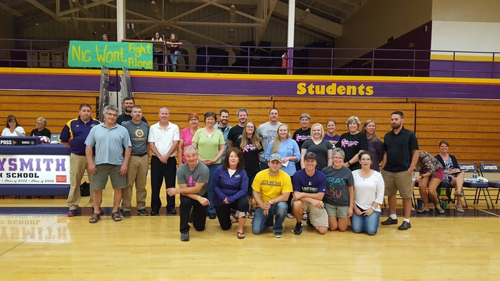 Staff Appreciation Night at the volleyball game.