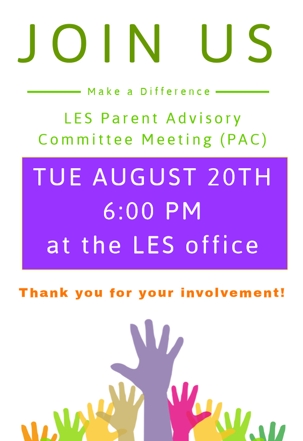 PAC Meeting Reminder