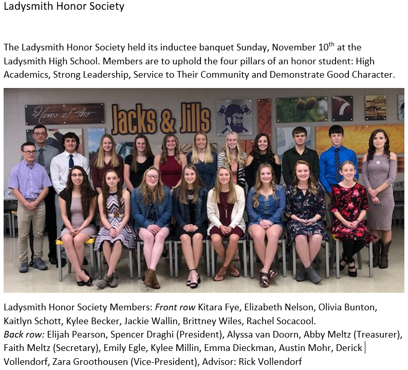 Ladysmith Honor Society