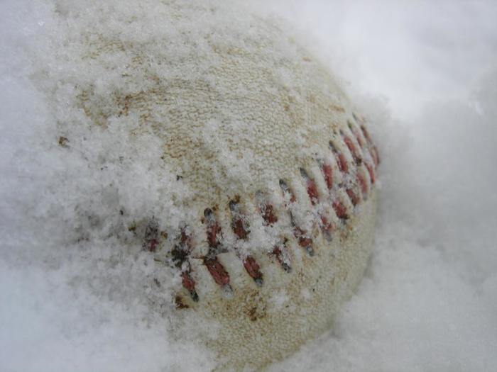 Snow Covered Baseball